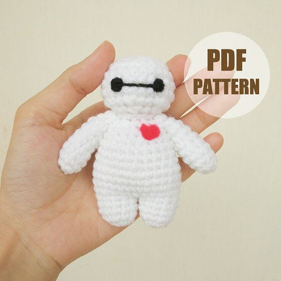 PATTERN: Baymax Stand ver.1 Crochet Amigurumi Doll PDF Crochet Pattern - Instant Download #amigurumidoll