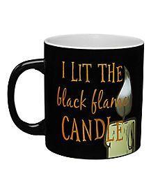 Best Hocus Pocus Halloween Decorations #mugdisplay Black Flame Mug - Hocus Pocus #mugdisplay