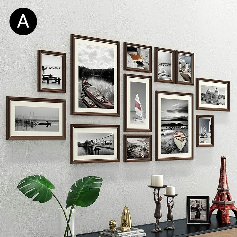 Wall Picture Frames Made Of Wood Set Of 12 Modern Style Buy Wooden Picture Frames Of 12 In 2020 Photo Wall Collage Photo Wall Decor Picture Frame Wall