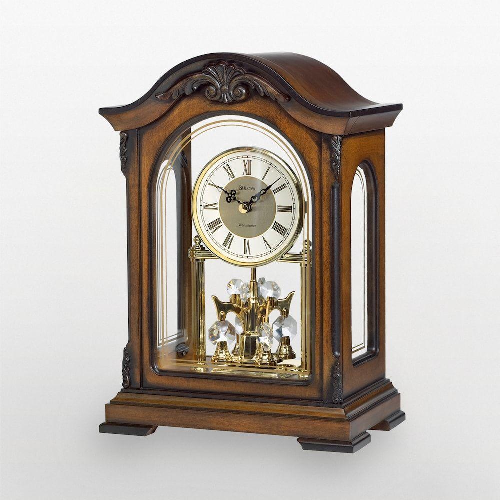 Bulova Durant Wood Mantel Clock B1845 Mantel Clocks Clock Wood Mantels
