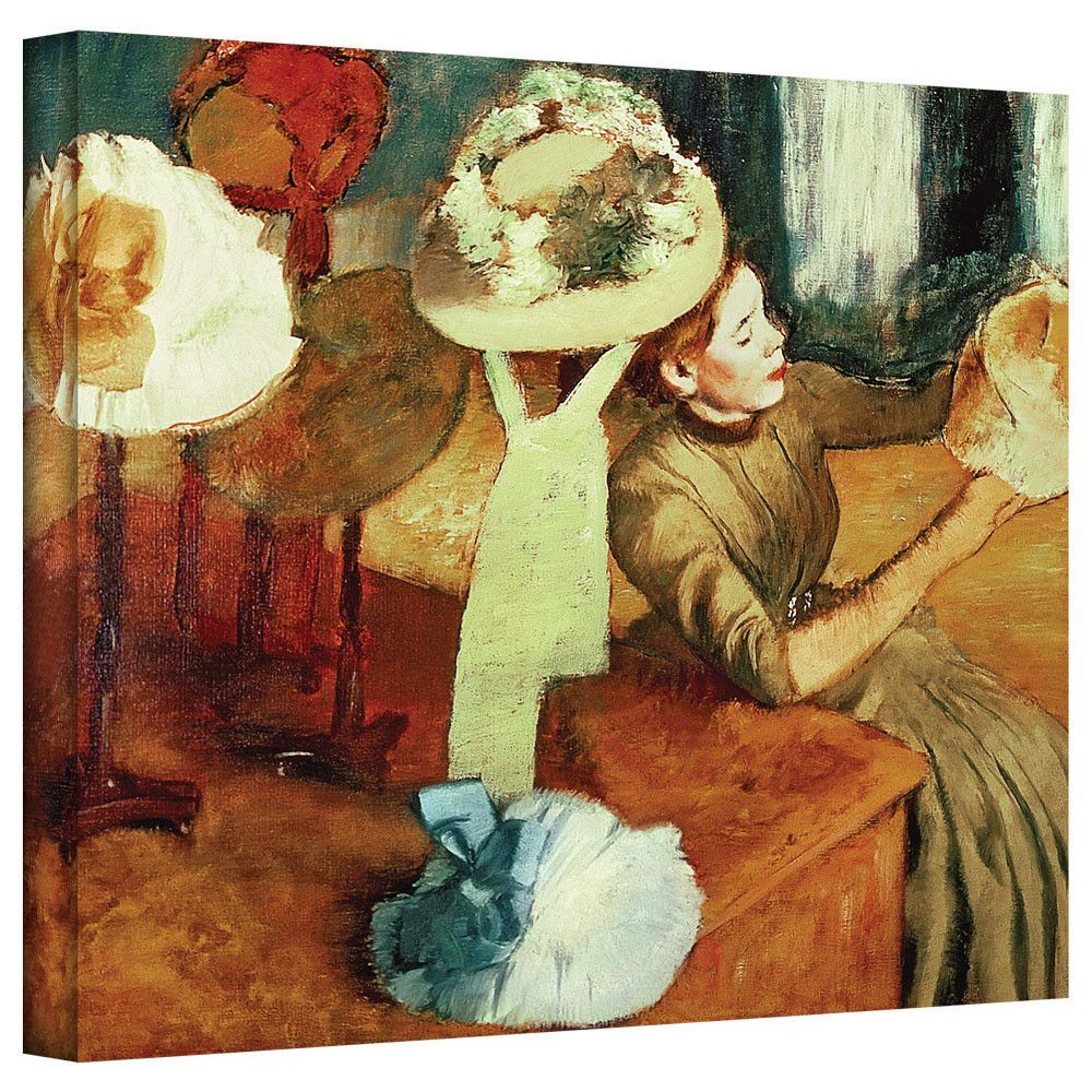 'The Millinery Shop' by Edgar Degas Gallery-Wrapped on Canvas