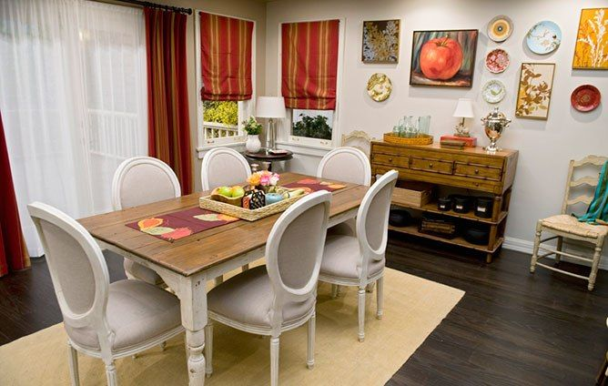 The Homes Of Abc S Modern Family Small Dining Room Table