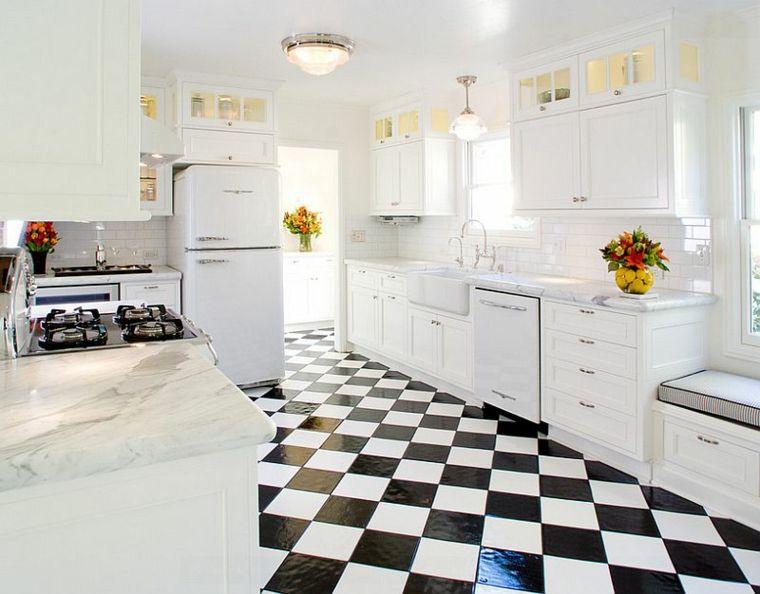 Cocina blanca y negra - descubre la tendencia de este año - Suelos