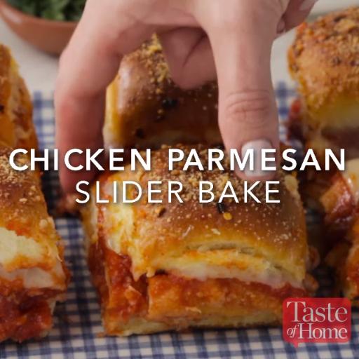 Chicken Parmesan Slider Bake #foodrecipies
