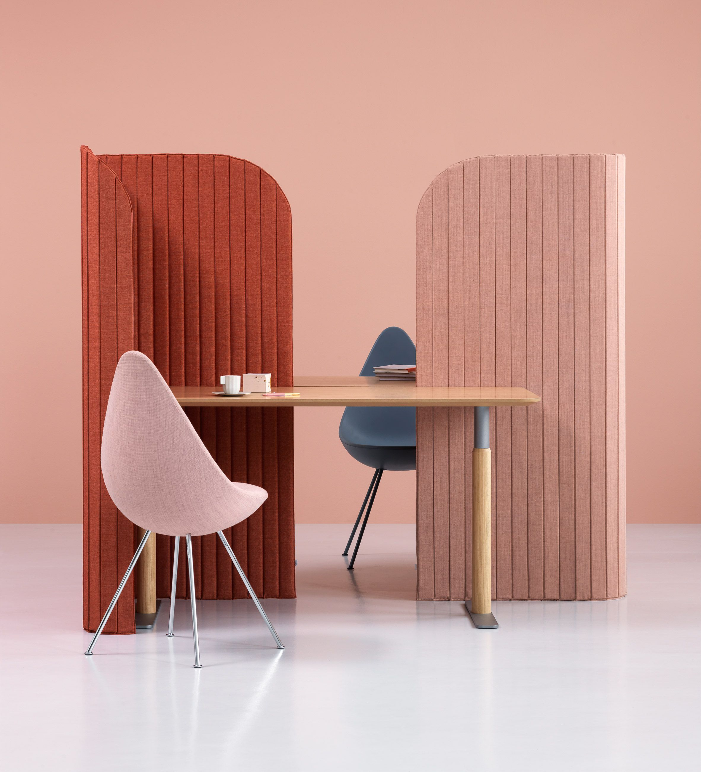 Note design studio creates office divider for people working on the