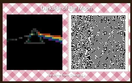 Darkside of the Moon Album Cover QR Code for ACNH by xtine ...
