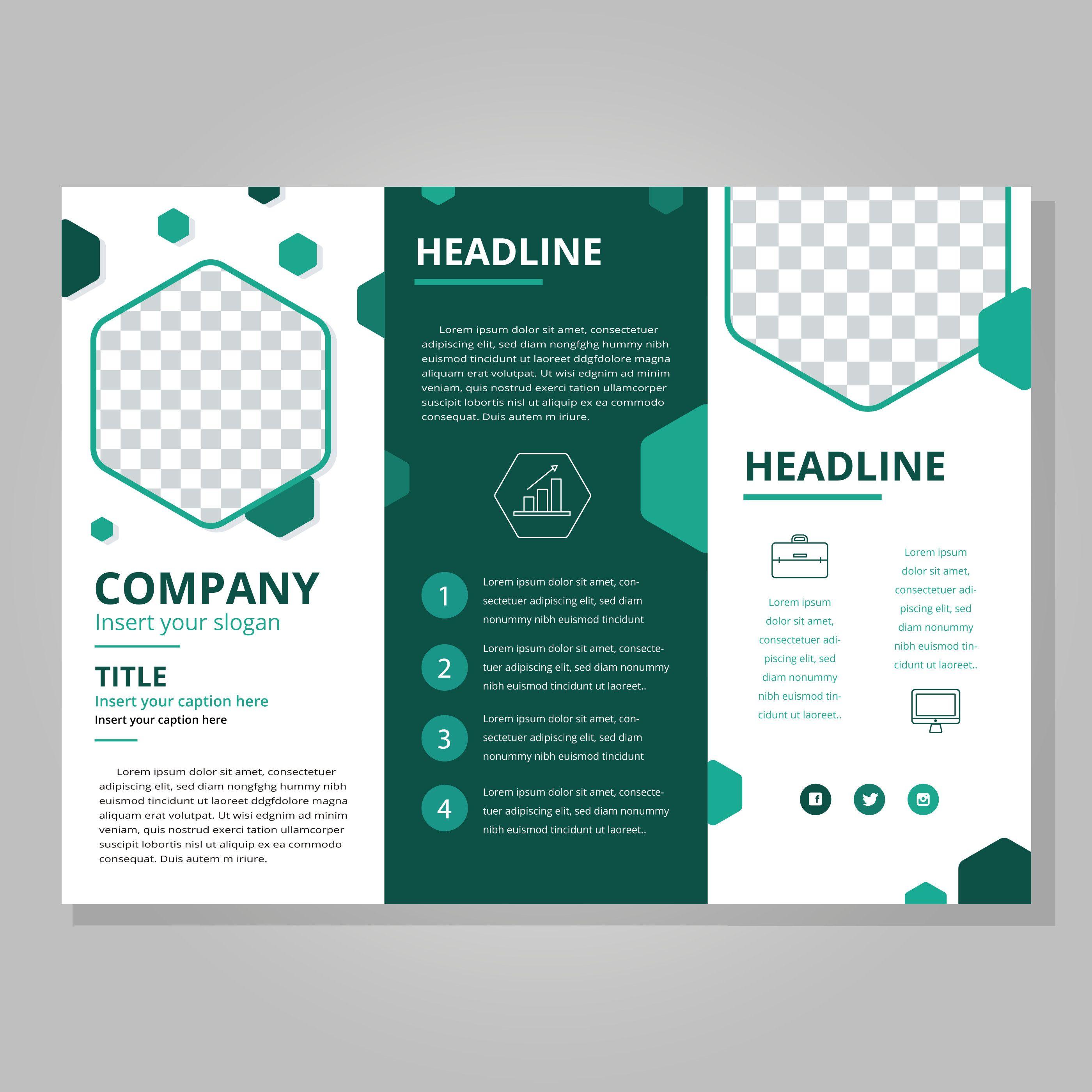 3 Fold Brochures Templates Fresh Modern Tri Fold Brochure Template Download Free Vect Free Brochure Template Brochure Design Template Trifold Brochure Template