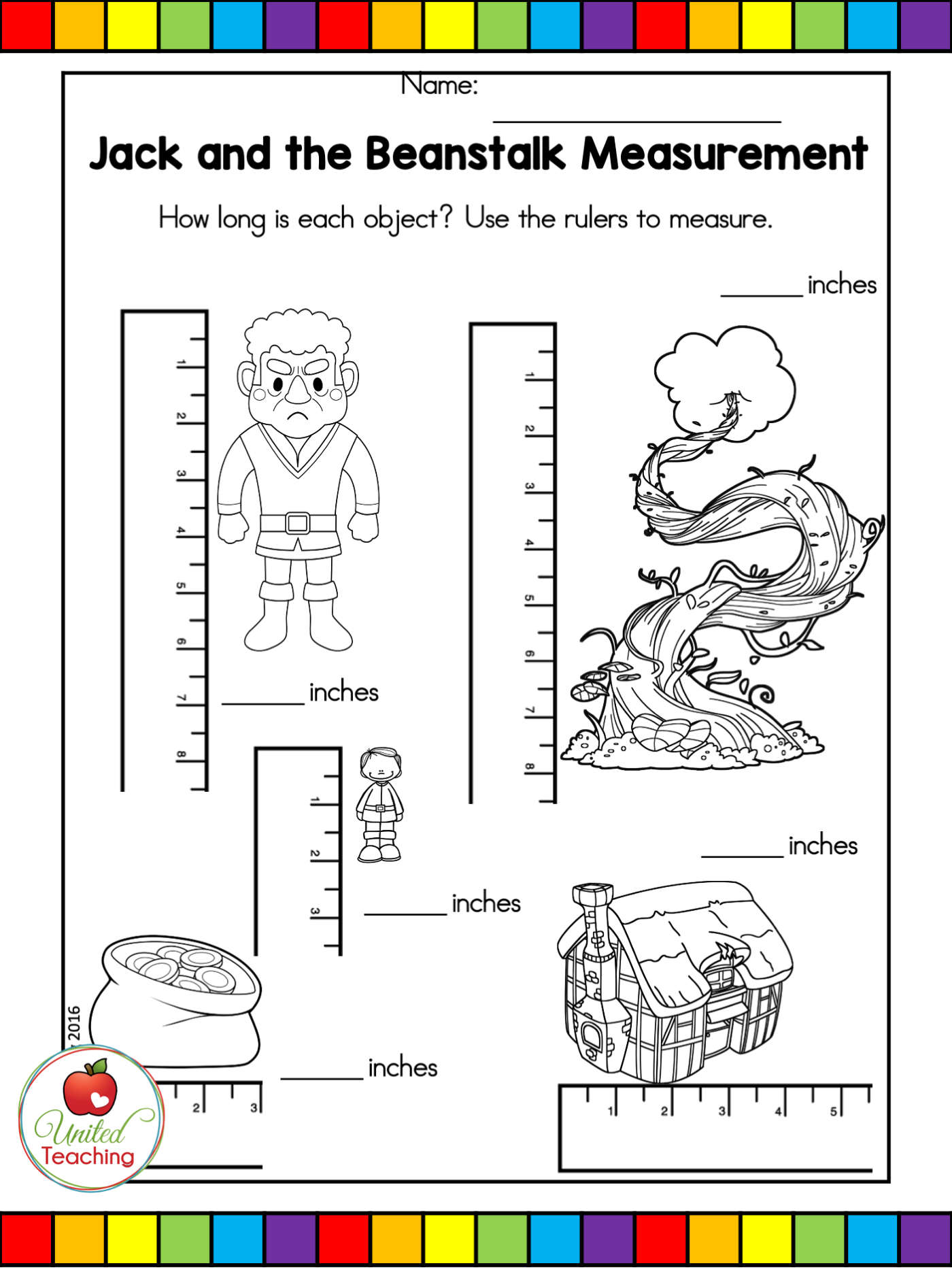 Jack And The Beanstalk Fairy Tale No Prep Activities