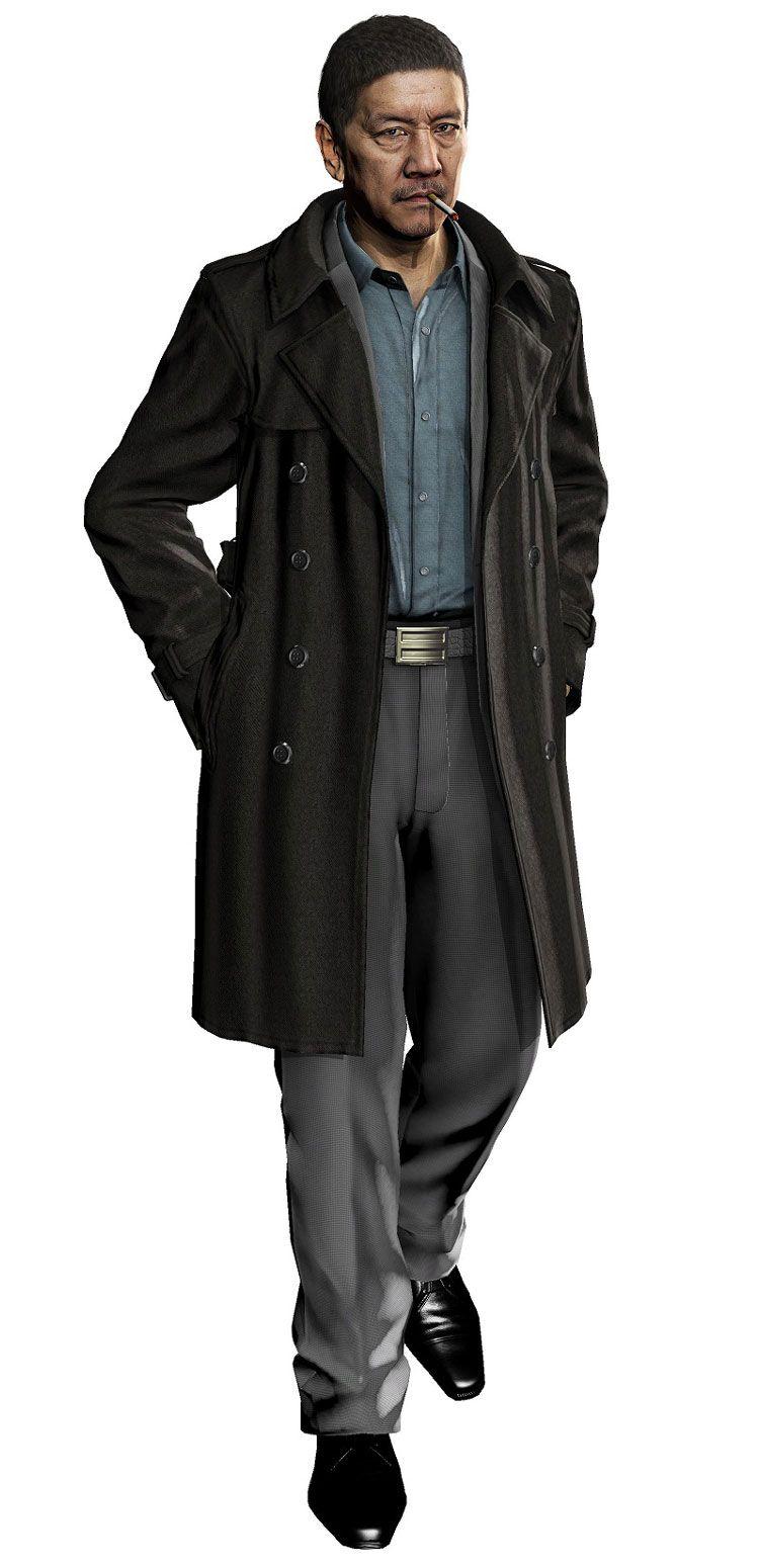 Police Detective Characters Art Yakuza 5 Concept Art Characters Cyberpunk Character Detective