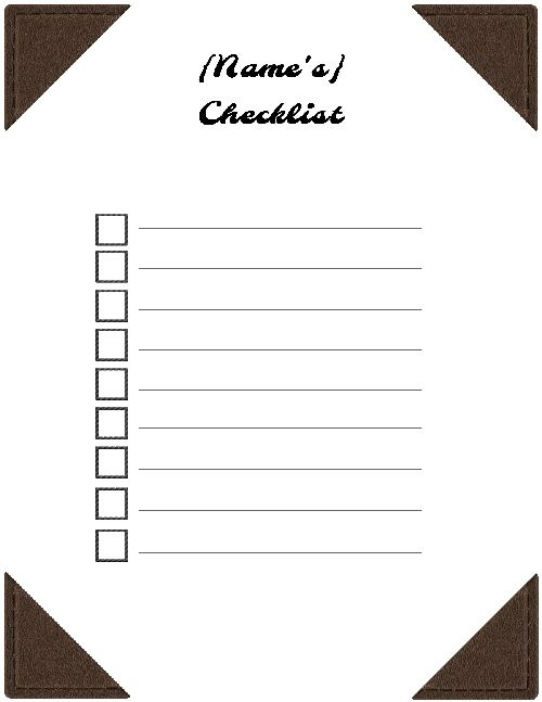 Free Checklist Template Use The Checklist Maker Online Or Print The List Checklist Template Printable Checklist Checklist
