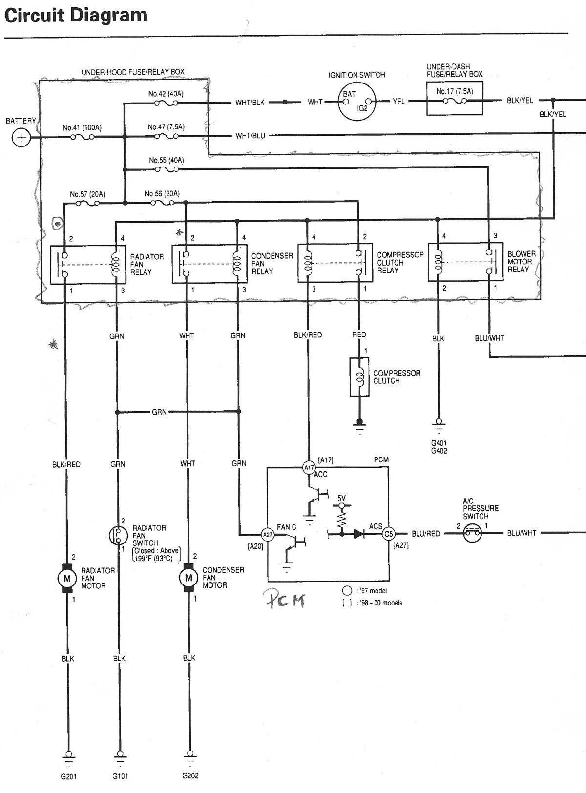 New Chrysler Electric Fan Wiring Diagram Honda Accord Honda Crv Diagram