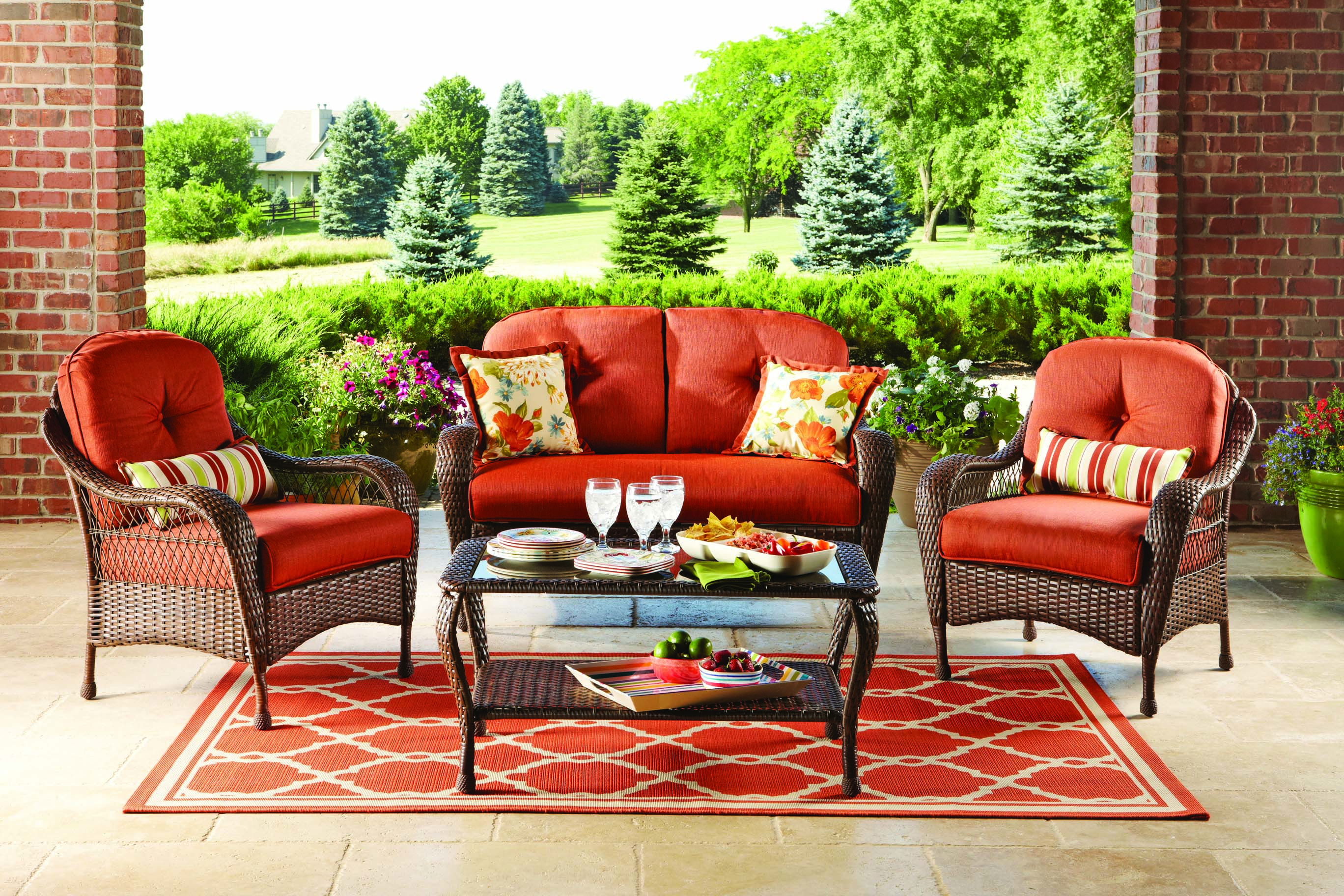 Better Homes Gardens Azalea Ridge Outdoor Conversation Set With