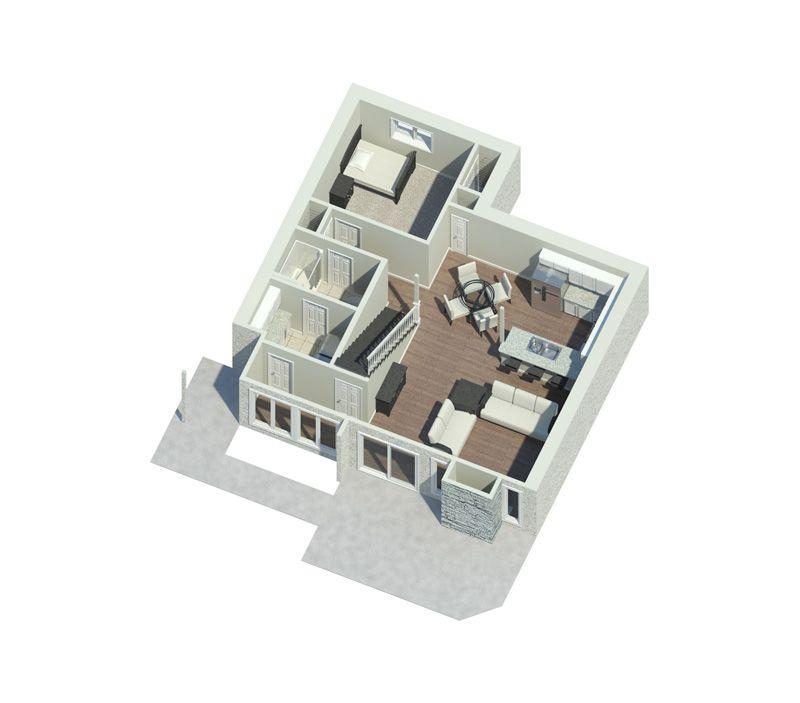 Eureka Berm Home Contemporary House Plans House Plans Vacation House Plans