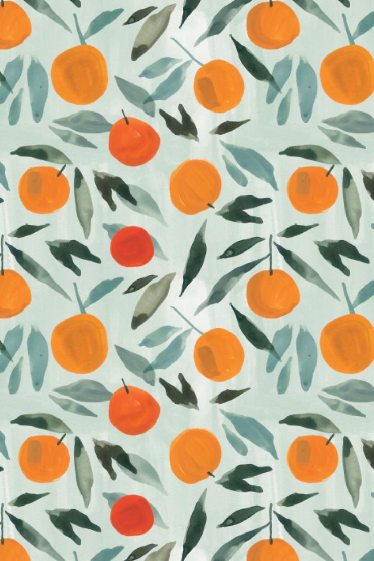 Hand painted orange repeat pattern by kass reich