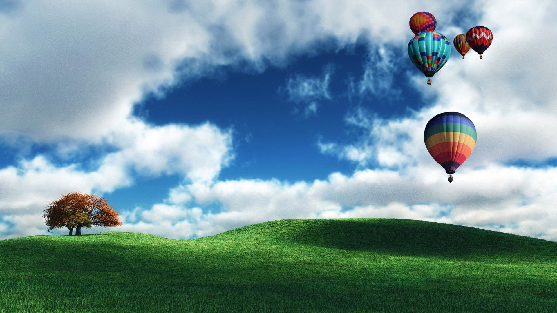 1920x1080 Dream Spring Beautiful Balloon Hd Wallpapers 1080p Background Images Field Wallpaper Hd Wallpapers 1080p