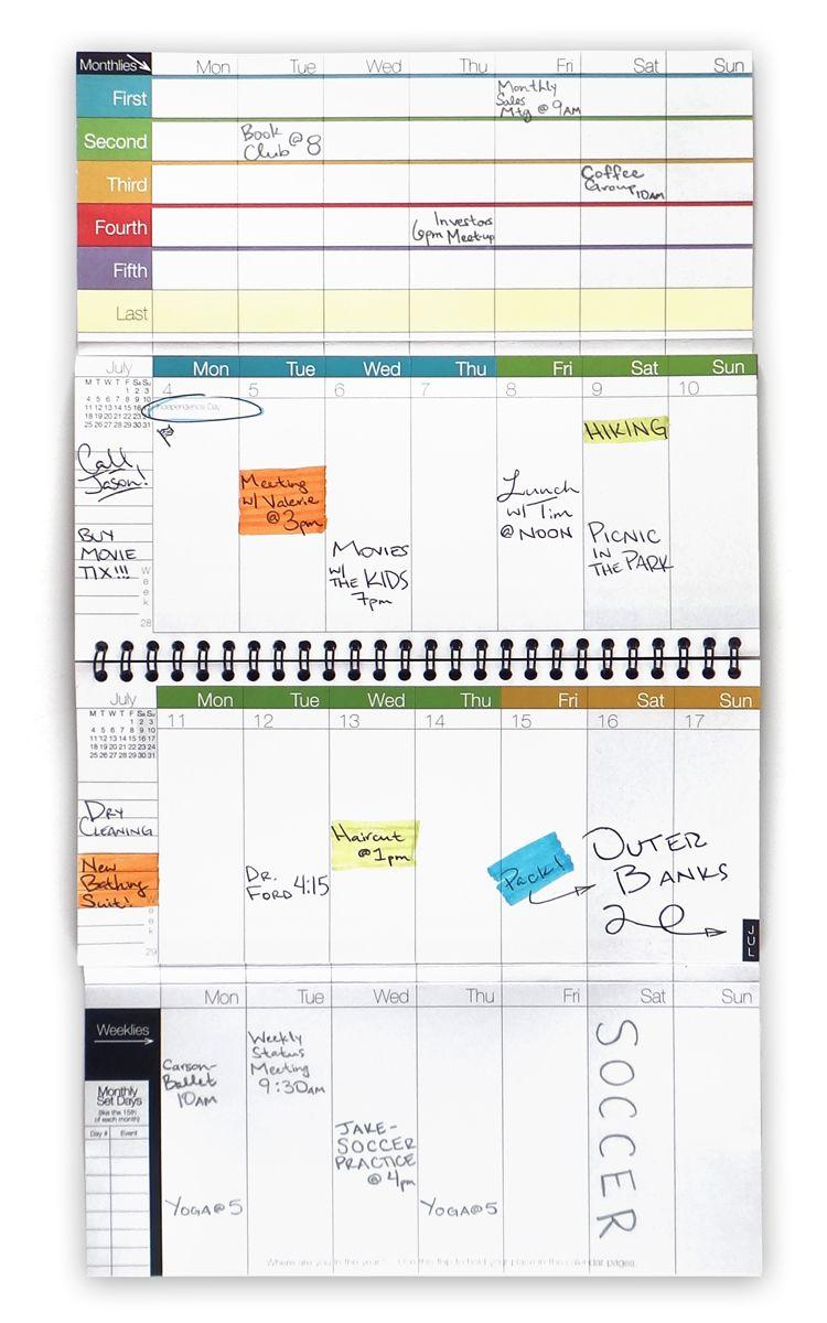 Weekdate Best Paper Calendar Weekly Planner Organizer