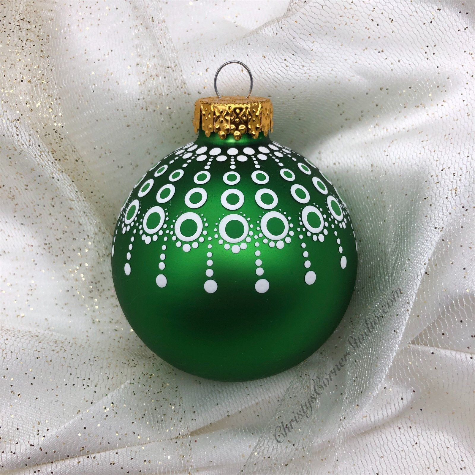Hand Painted Green Mandala Glass Christmas Ornament Green Etsy Painted Christmas Ornaments Christmas Ornaments Homemade Christmas Mandala