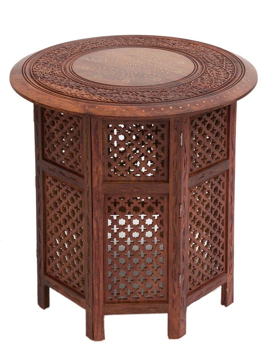 Moroccan Furniture Furnishings Moroccan Bazaar Moroccan Furniture Round Wood Coffee Table Sheesham Wood [ jpg ]