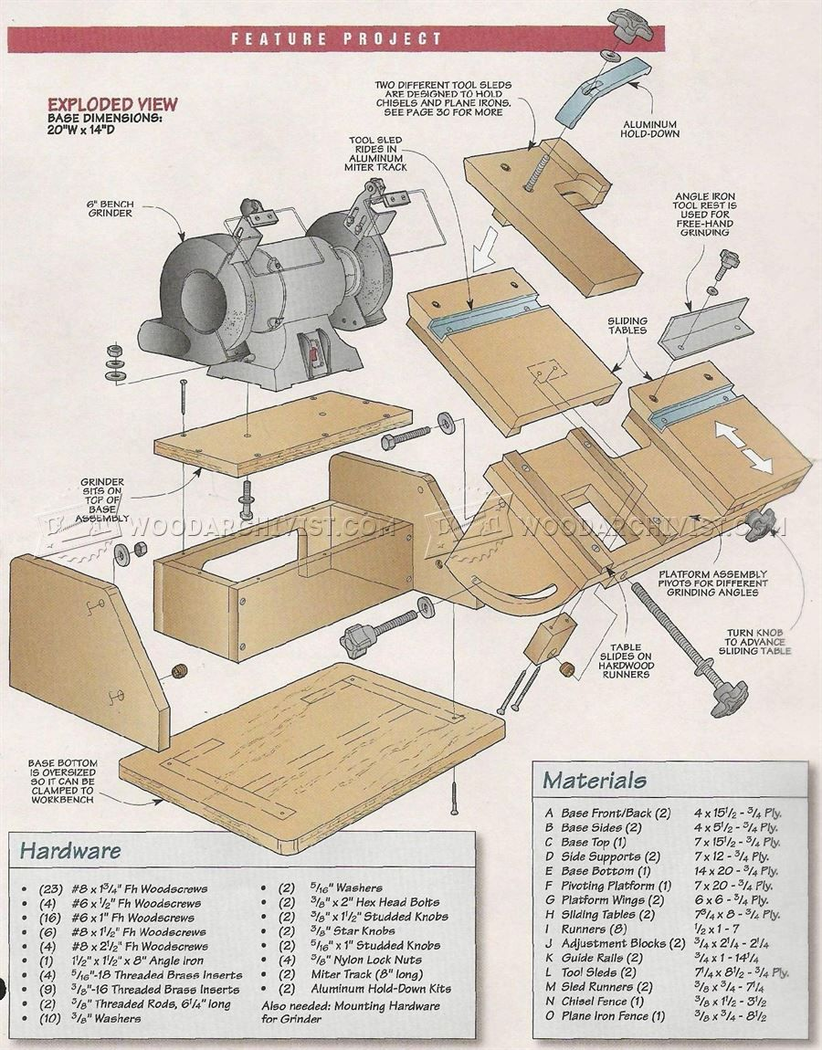 Astounding 2570 Bench Grinder Tool Rest Plans Sharpening Workshop Inzonedesignstudio Interior Chair Design Inzonedesignstudiocom