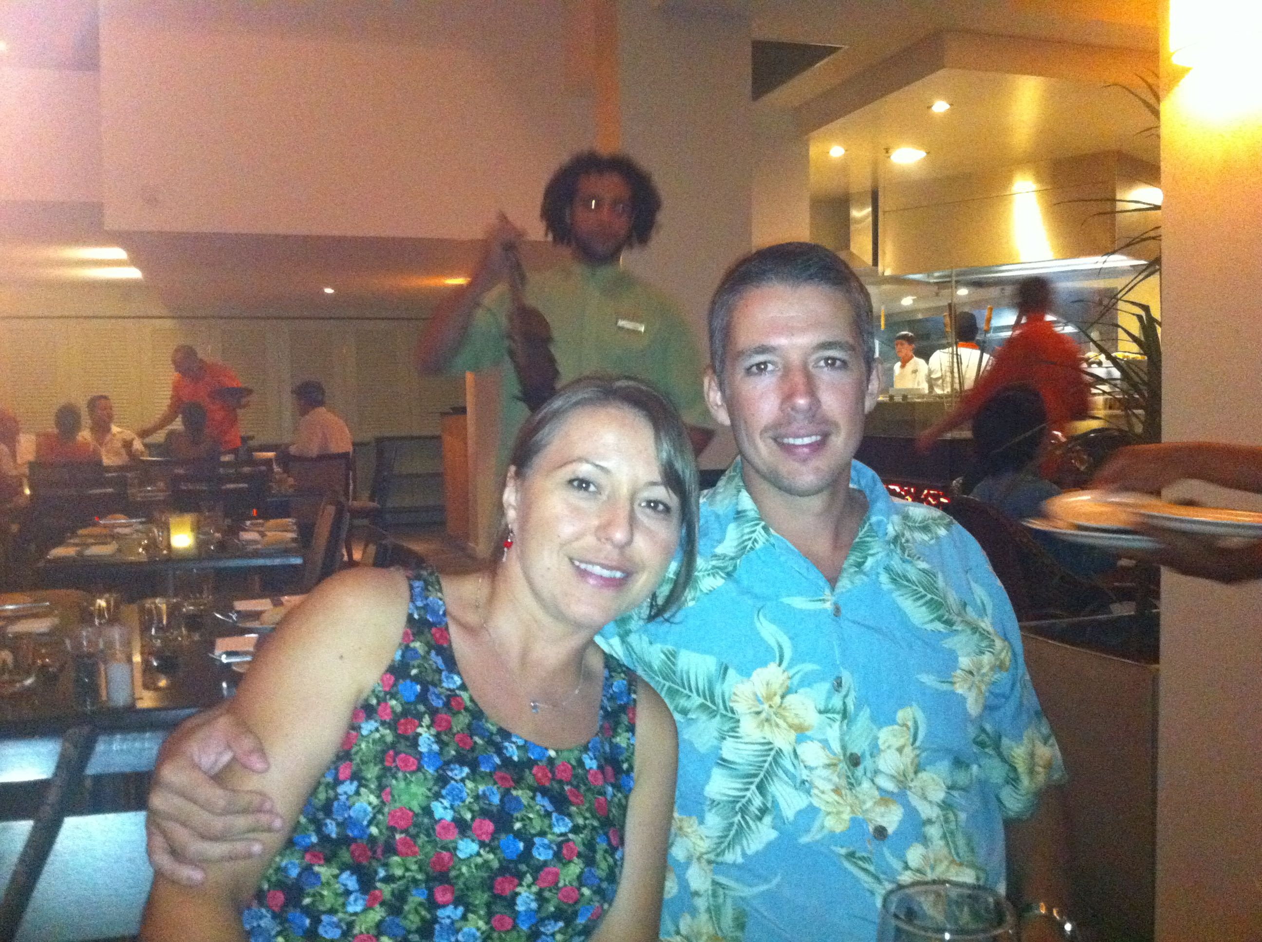 Paul and Lumi at Wildfire Restaurant, Cairns, QLD. New