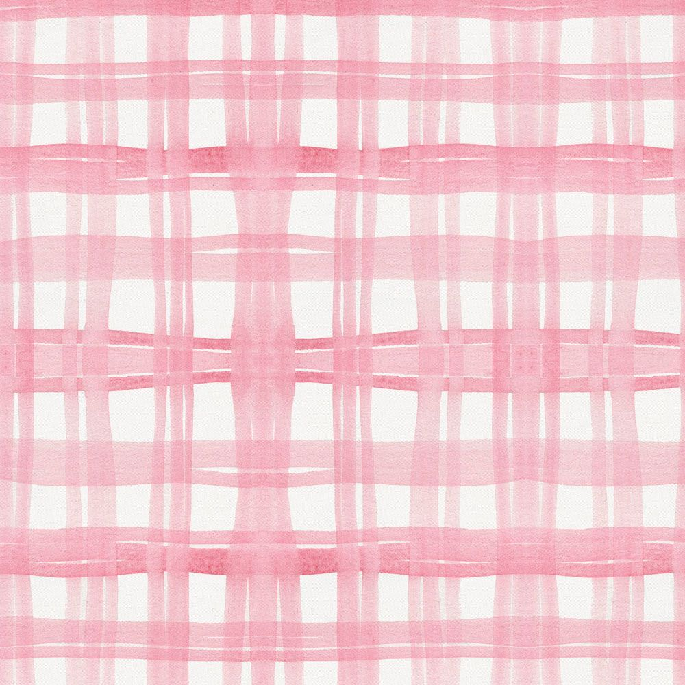 Pink Watercolor Plaid Fabric by the Yard Watercolor