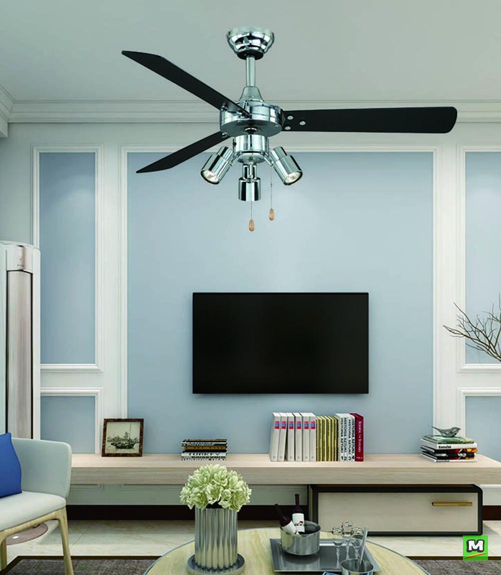 The Turn Of The Century Modernized Jette Ii Ceiling Fan Is