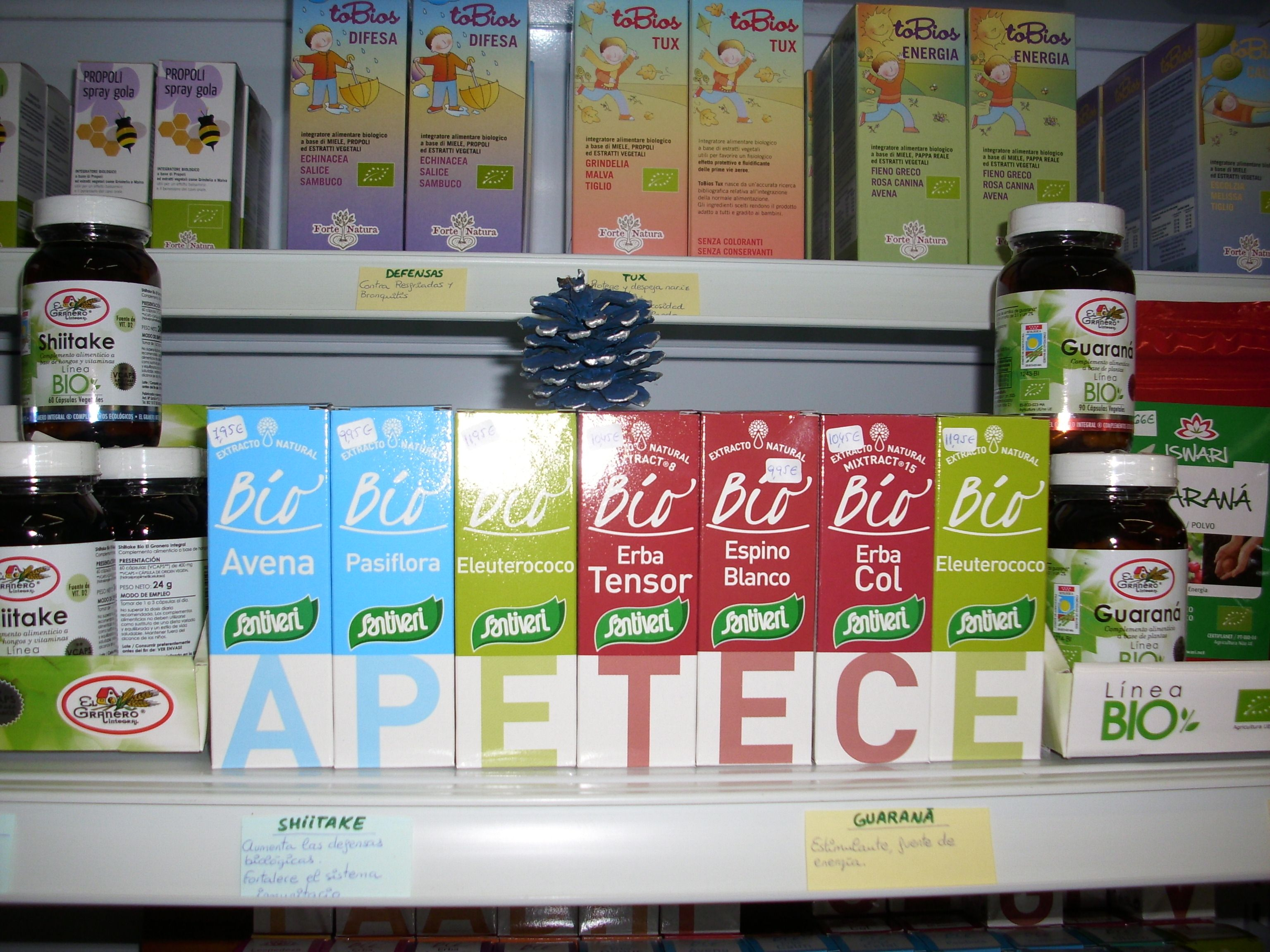 Algunos productos de Herbodietética, naturalmente Ecológicos, a vuestra disposición en APETECE ecológicos, en Camino del Pato, 16- MÁLAGA- 951-286303- Whats-app 669-765979