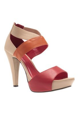 3ea6a04d7e5 Gibi Strappy red multi-colored heels with a beige base from Zalora Online  Shop.