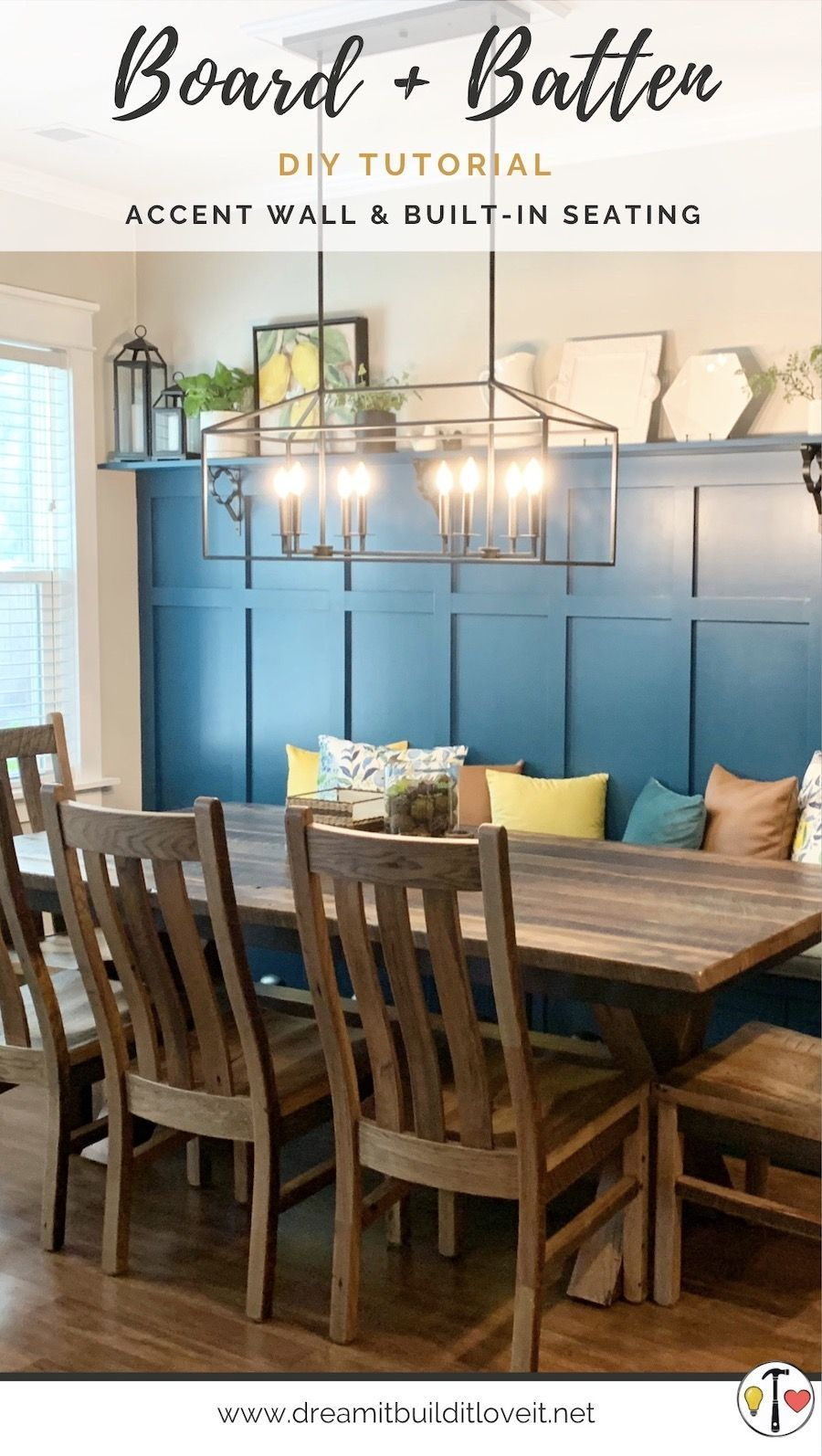 Custom Built-In Bench and Board & Batten Accent Wall in ...