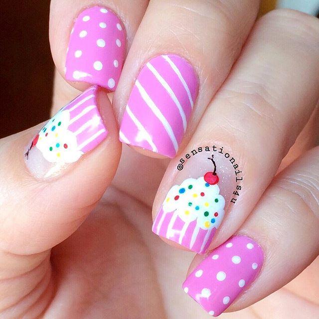 Posts you've liked | Websta - Sensationails4u @sensationails4u Cupcakes Nails ✨💖...Instagram