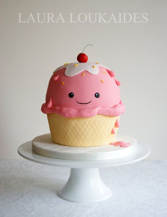 Ice Cream Cup Cake by Laura Loukaides CakesDecorcom cake
