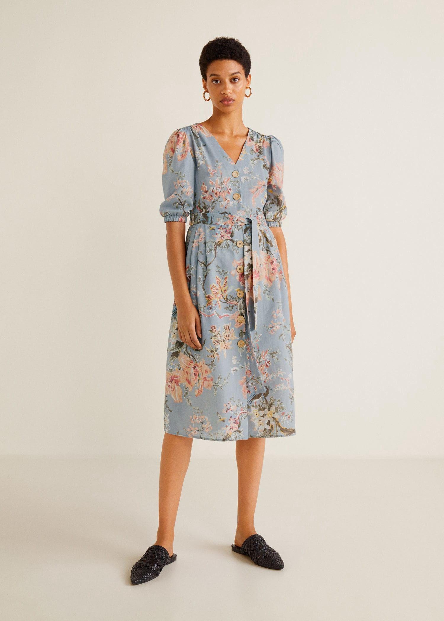 6efcf1ba4e7 Mango Floral Linen-Blend Dress - 2