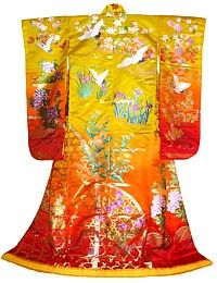 japanese traditional wedding gown, 1960's 600$