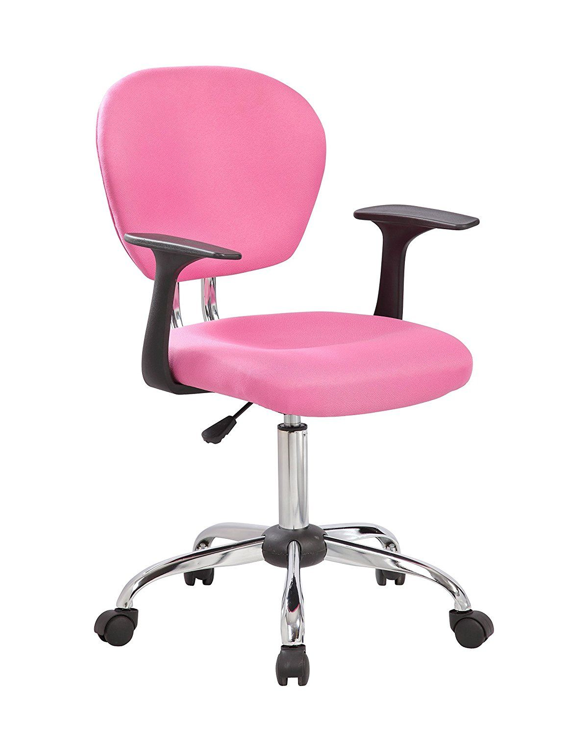 ANJI Modern Furniture Adjustable Mid Back Fabric Swivel Office Desk Computer  Chair with Arms PinkANJI Modern Furniture Adjustable Mid Back Fabric Swivel Office  . Fabric Computer Chair. Home Design Ideas