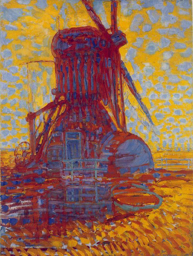 Piet Mondriaan, Molen (Mill); Mill in Sunlight, 1908, Oil