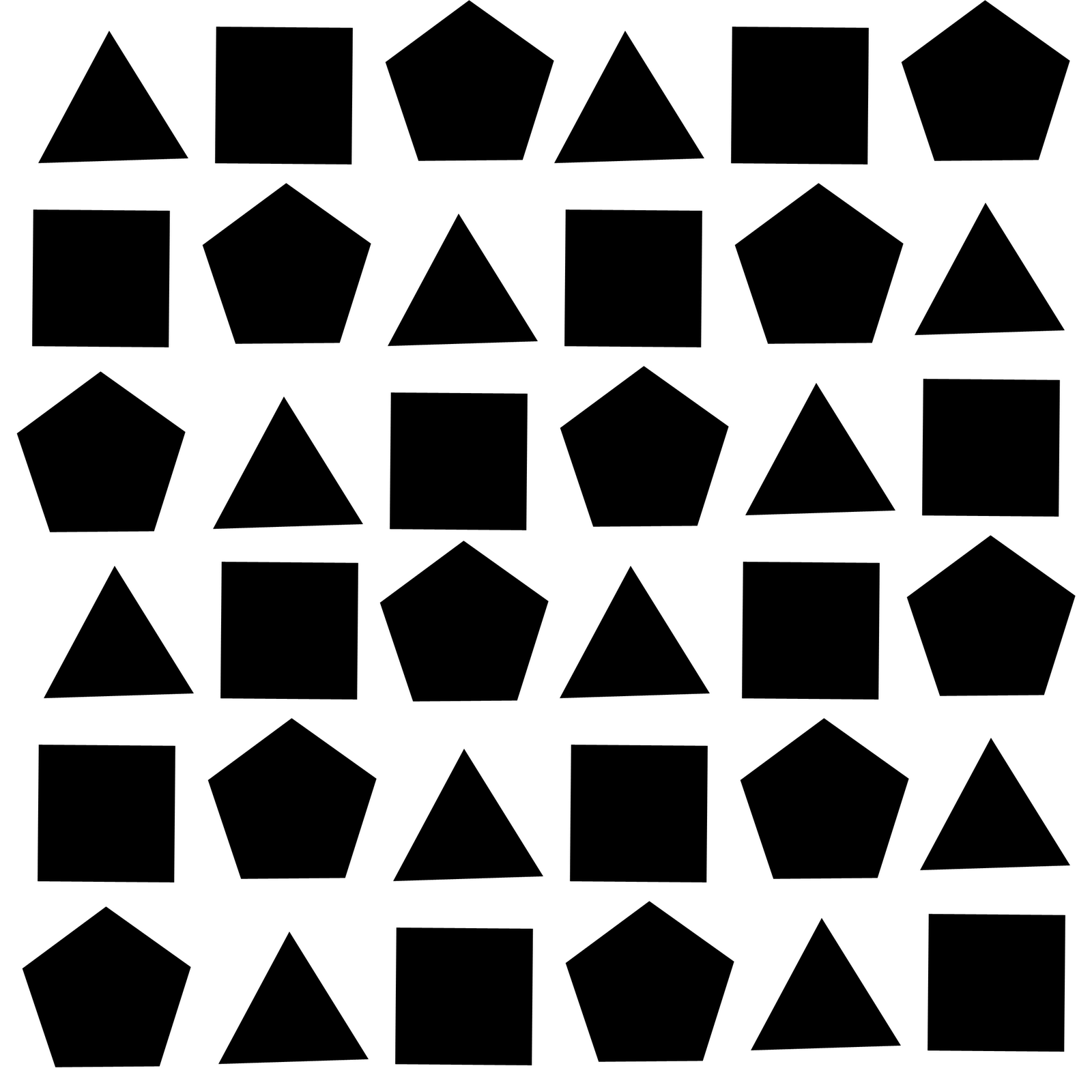 In this piece a pattern of a triangle then square then ...
