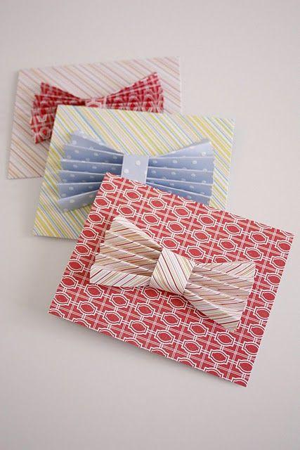 Pretty bow tie cards
