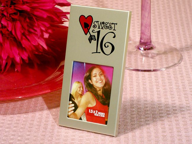 Sweet 16 silver metal photo frame | Sweet 16 centerpieces, Sweet 16 ...