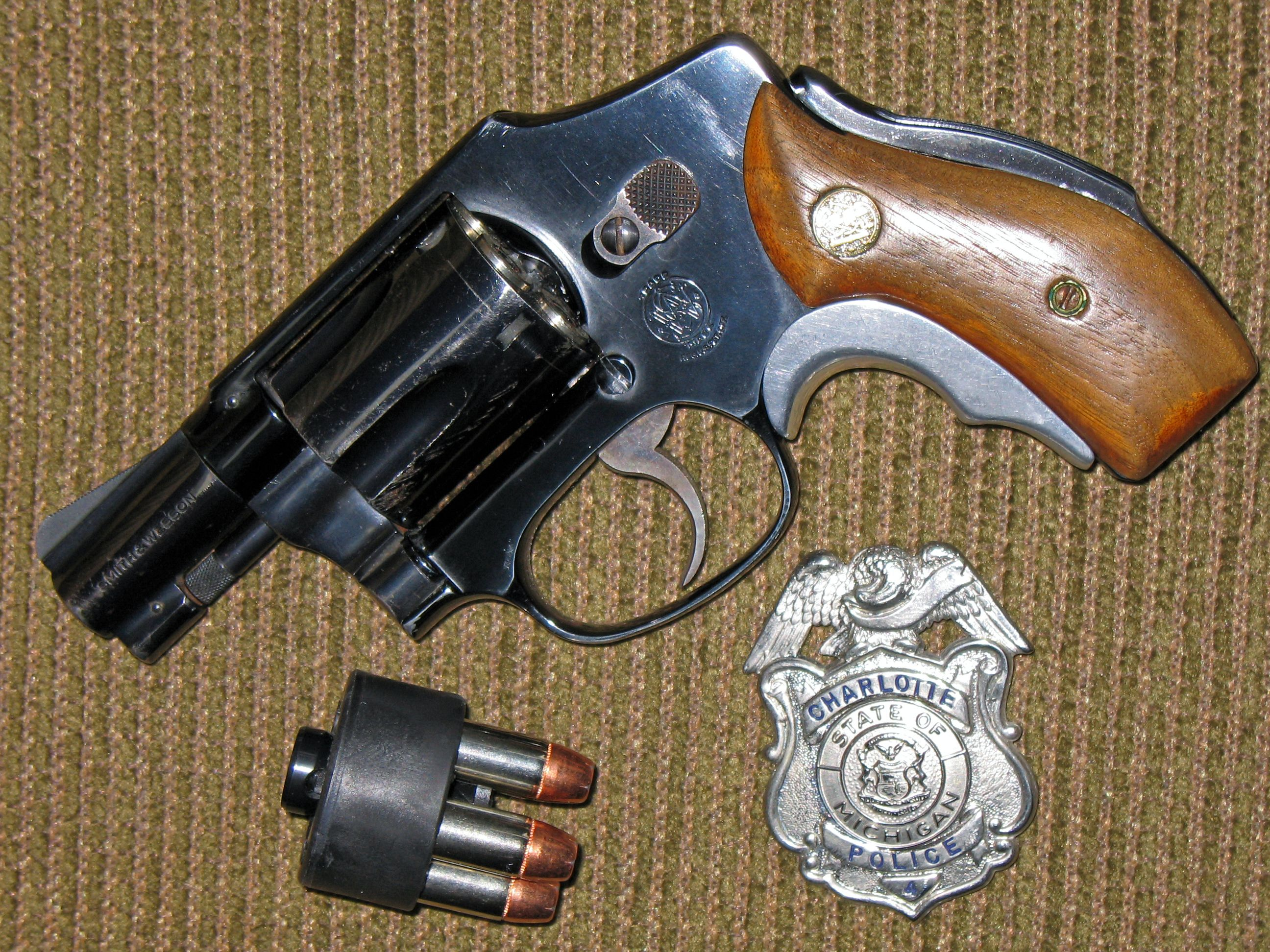 Smith & Wesson model 42 (.38 Special) with Tyler T-Grip