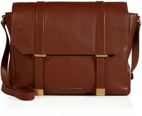 Marc by Marc Jacobs Leather Natural Selection Messenger Bag in Cinnamon Stick - ShopStyle Shoulder