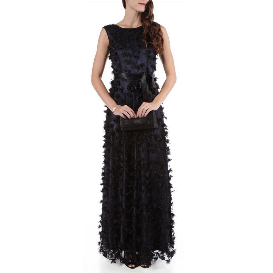 Tahari Arthur S Levine Embroidered Florette Gown Formal Dresses Dresses Gowns [ 900 x 900 Pixel ]