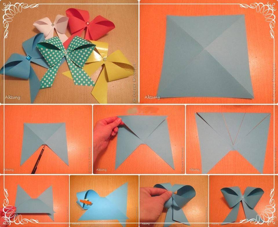 Make a paper bow step by step pinterest - Manualidades con cosas de casa ...