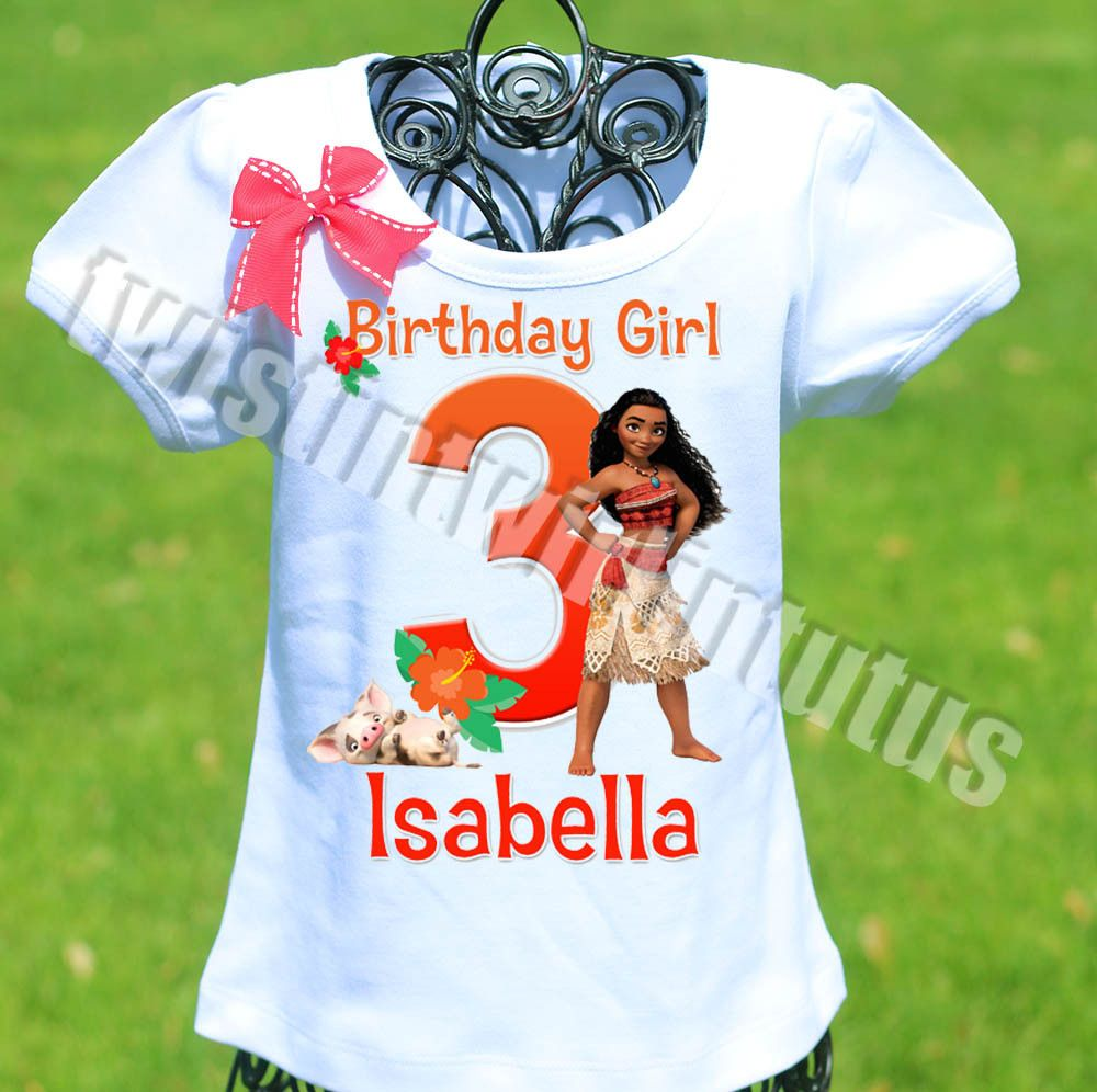 dd665a7421de9 Moana Birthday Shirt in 2019   Girls Birthday Shirts   Birthday ...