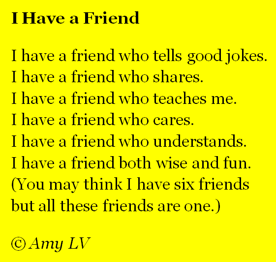 Friendship Quotes And Poems Funny : Poems for a friend who died happy birthday to mark my