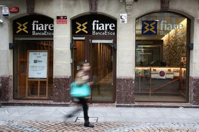 Oficina de Fiare Banca Ética en Bilbao