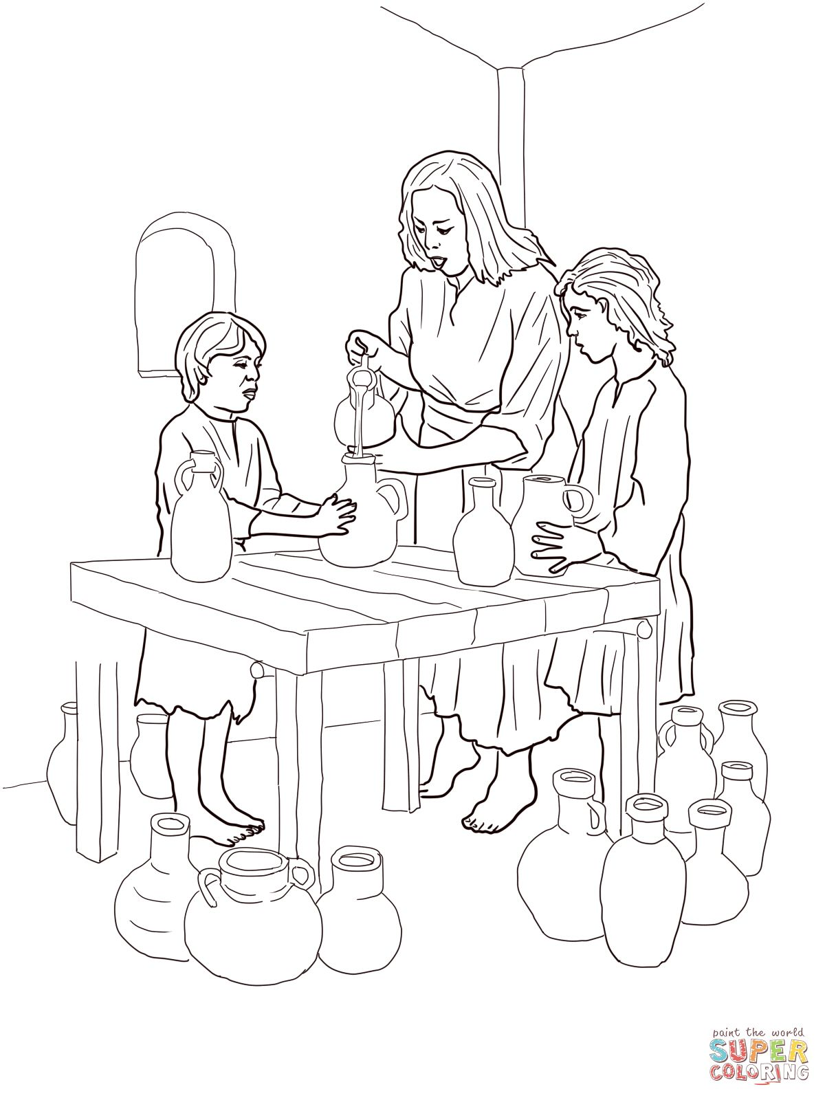 the widow and elisha coloring pages sketch coloring page - Elijah Bible Story Coloring Pages