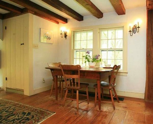 An Old Post And Beam Farmhouse In Hopewell With Images Farmhouse Interior Post And Beam Kitchen Design
