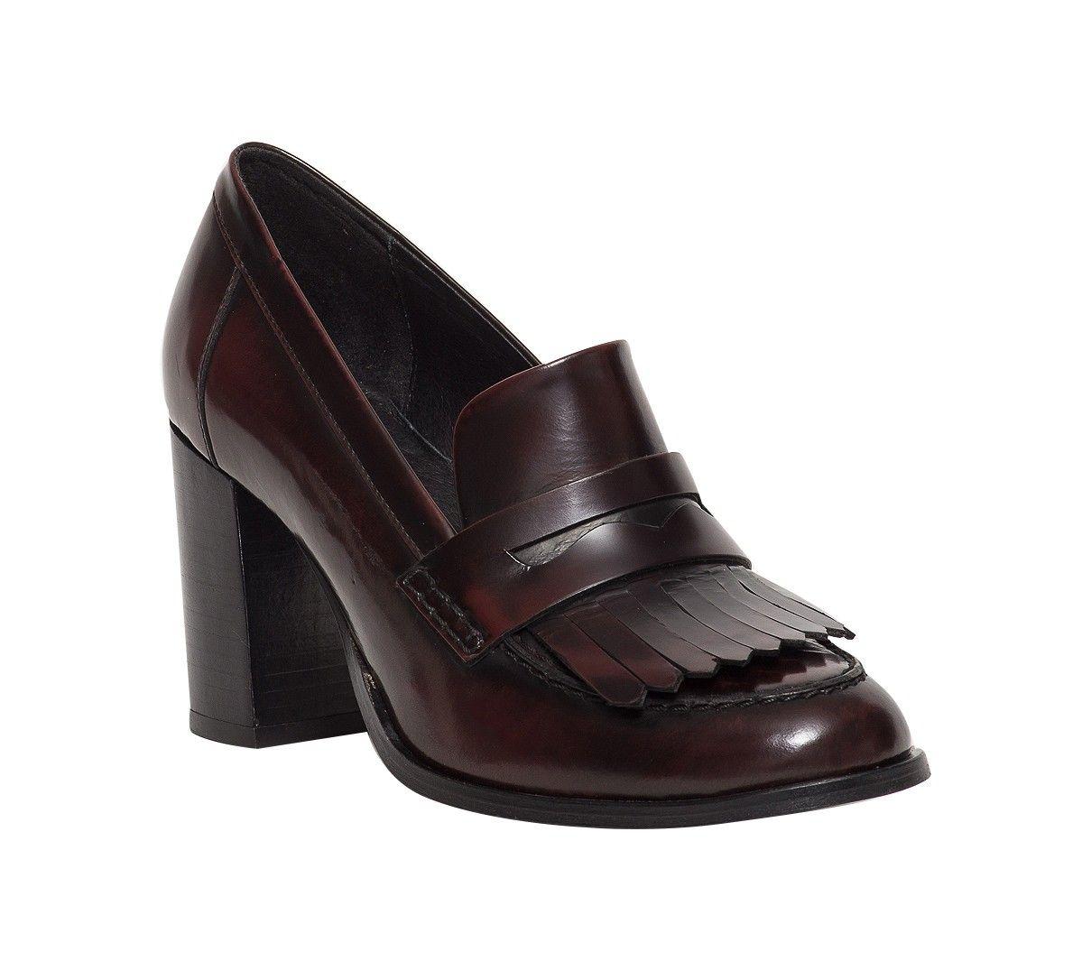 Chaussures. Mocassin talon patte frangée bordeaux ERAM Mocassins Talons, Mocassin  Femme, Les Talons Des Femmes 3c226b53d71