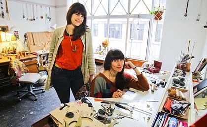 Karla Way and Natalia Milosz-Piekarska in their studio