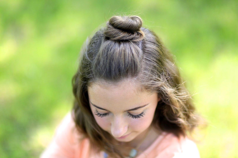 Diy halfup bun in hairstyles ideas pinterest half bun